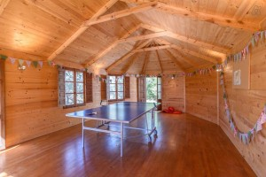 Olibe Hut and table tennis at Almond Hill House, Andalucia, Spain