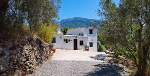 Front of Almond Hill House, Andalucia, Spain