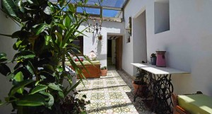 Internal patio Almond Hill House