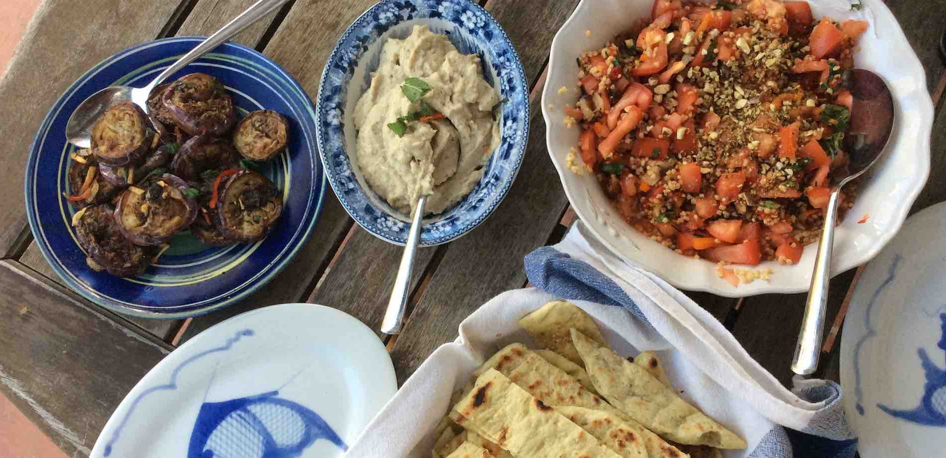 Vegan food at Almond Hill House, Andalucia, Spain