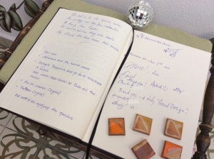 Guest book entry at Almond Hill House, Andalucia, Spain
