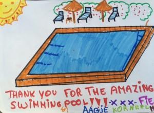 Drawing of swimming pool