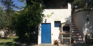 Blue door at Almond Hill House, Andalucia, Spain