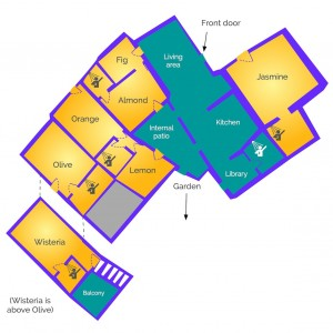 House layout of Almond Hill House, Andalucia, Spain