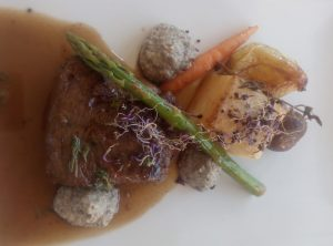 Gourmet food at Almond Hill House, Andalucia, Spain