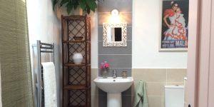 Jasmine room bathroom at Almond Hill House, Andalucia, Spain