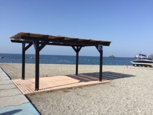 Accessible shade area Almuñecar