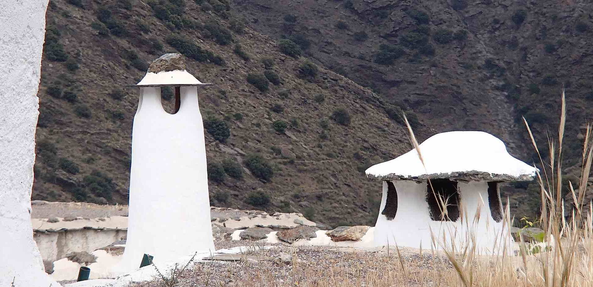 Traditional chimneys in La Alpujrra