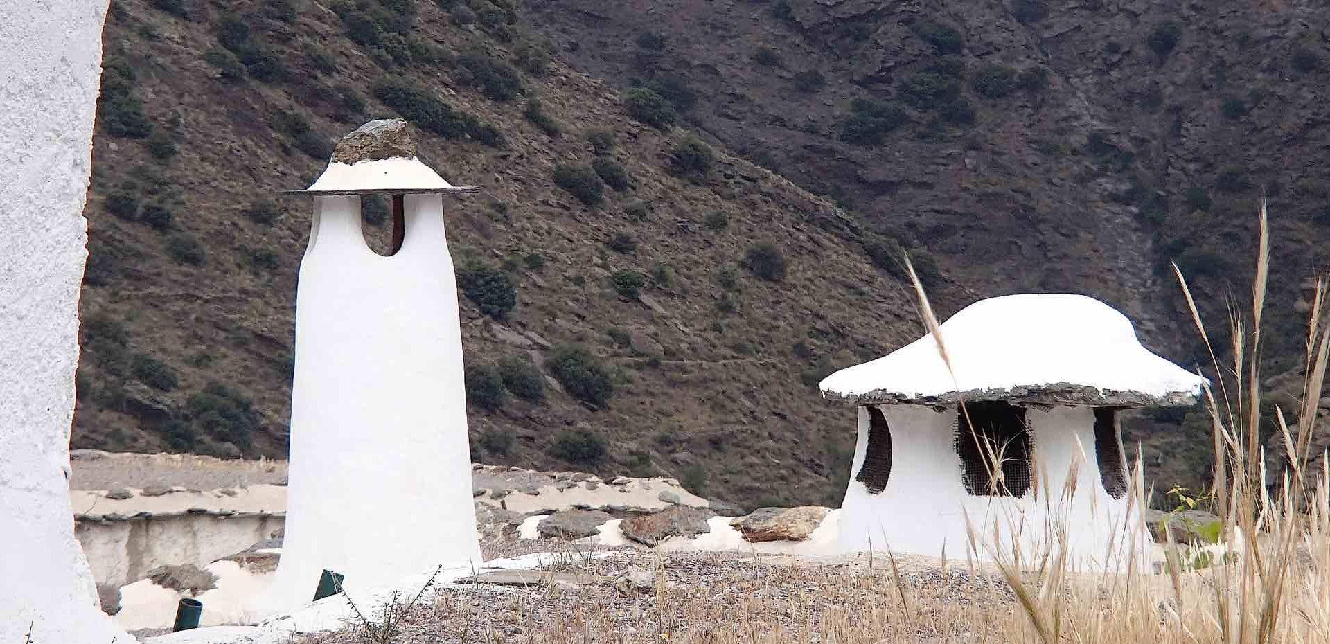 Traditional chimneys in La Alpujrra