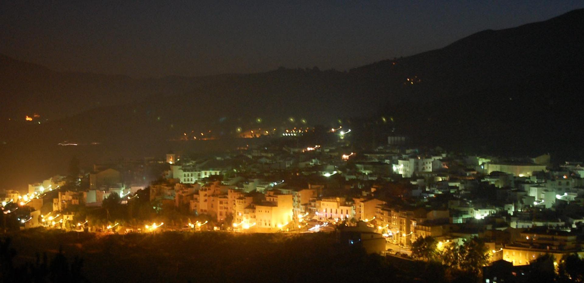 Lanjarón at night, Andalucia, Spain