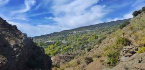 View of villages in La Alpujarra