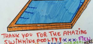 Drawing of a swimming pool