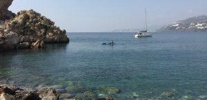Kayak in the sea at Salobreña