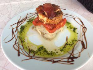Plate of Spanish food